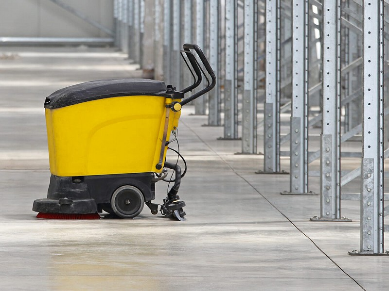 Machine Scrubbing Of Floors - Contract Cleaning North West, Time-Out Services